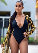 Gorgeous black model