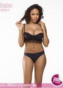 Black babe in lingerie