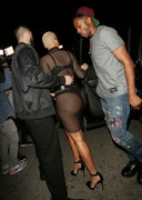 Amber Rose in black lingerie