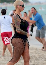 Amber Rose in a swimsuit