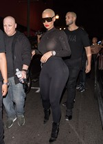Amber Rose in tights