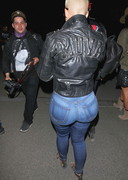 Amber Rose in tight jeans