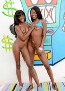 Two ebony porn star