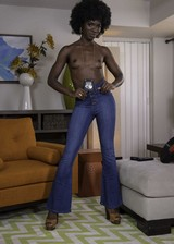 Sexy ebony cop