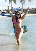 Andressa Soares in a bikini at the beach