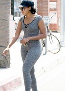 Angela Simmons in a bodysuit