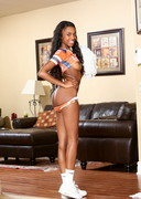 Naughty ebony cheerleader