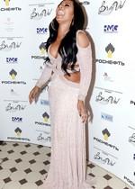 Ashanti in a sexy dress