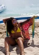 Ashanti in a bikini