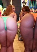 Big booty bikini shopping