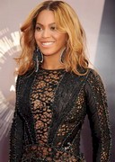 Beyonce in a sheer dress