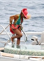 Beyonce in a swimsuit
