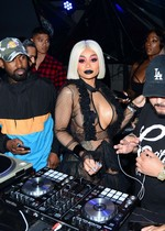 Blac Chyna in see through lingerie