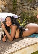 Ebony Playmate with big boobs