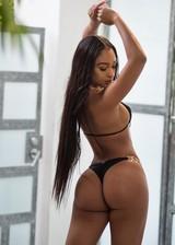 Black babe in a bikini