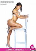 Curvy latina in lingerie