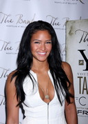 Cassie showing cleavage