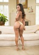 Ebony porn star in her underwear