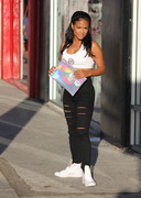 Christina Milian in tight jeans
