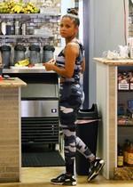 Christina Milian in leggings