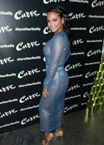 Christina Milian in a mesh dress
