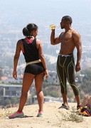 Christina Milian working out