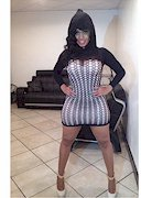 Cubana Lust in a tight dress