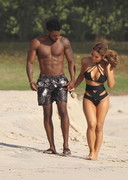Daphne Joy in a black bikini