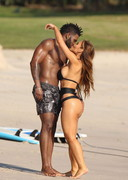 Daphne Joy in a black bikini