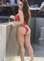 Asian babe in a bikini