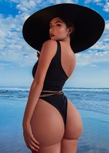 PAWG in a swimsuit