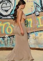 Demi Rose in a tight dress