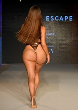 Thick swimsuit model