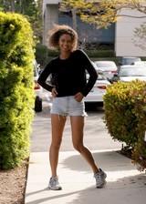 Girl flashing in public