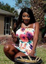 Ebony housewife