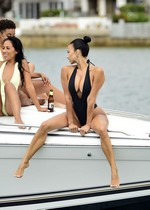 Draya Michele in a swimsuit