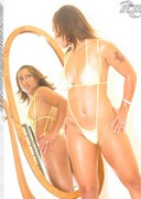 Hoopz posing in front of a mirror