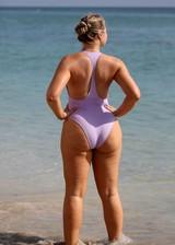 Big booty model in a swimsuit