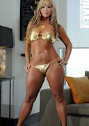 Joanna Shari in gold
