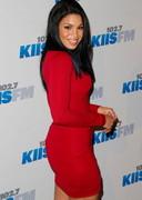 Jordin Sparks in a red dress