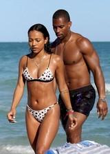 Karrueche Tran in a bikini