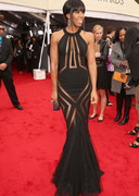 Kelly Rowland in a sheer dress