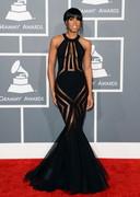 Kelly Rowland in a sheer dress