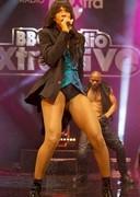 Kelly Rowland is leggy