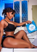 Khrysti Hill doing laundry