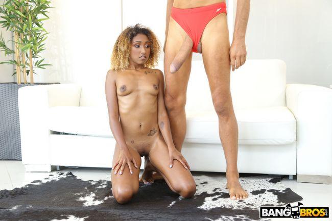 Petite ebony babe