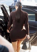 Kim Kardashian in a tight dress