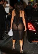 Kim Kardashian in a booty dress