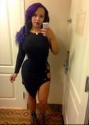 Curvy black babe