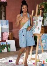 Naked black artist